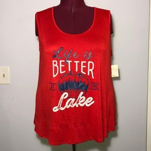 Living Doll Red Lake Tank Top size 2X